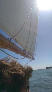 side schooner sail
